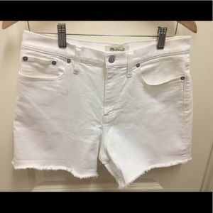 Barely used Madewell cut off white short